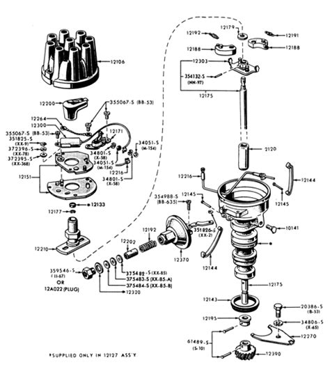 points distributor wiring diagram points distributor