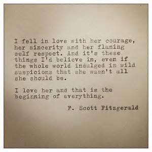 Love Quotes F by F Scott Fitzgerald Framed Love Quote Made On Typewriter
