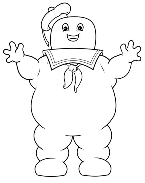 stay puft marshmallow man cartoon drawing lesson