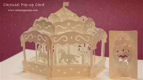 diy carousel pop up card template how to make a carousel pop up card