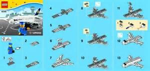 bauanleitungen lego 40146 lufthansa plane