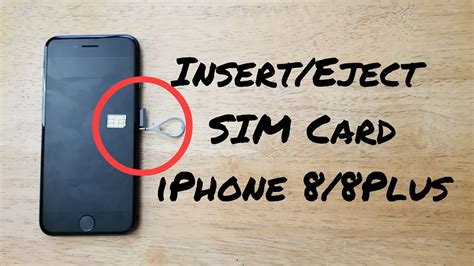 how to insert eject sim card iphone 8 8 plus