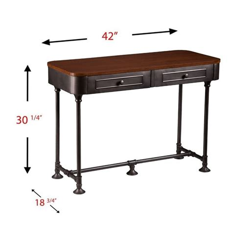 Edison Table L Southern Enterprises Edison Console Table In Tobacco And Gray Ck9153