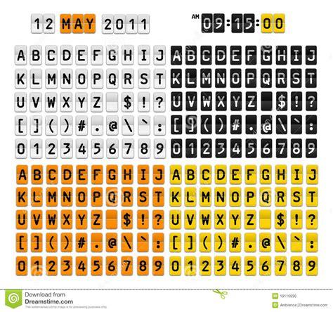 lettere e simboli simboli di numeri delle lettere illustrazione di stock