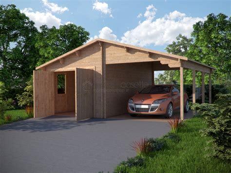 tettoia garage garage in legno 4 con tettoia
