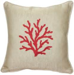 sea coral in 17x17 throw pillow from pillow decor