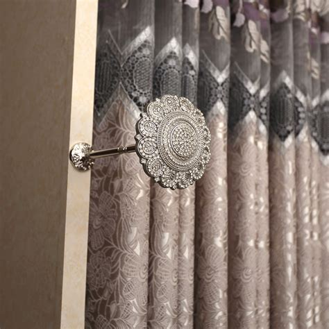hold back curtains 2 x 110mm glass crystal silver diamante flower curtain