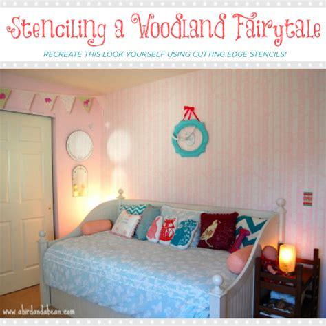 girls woodland bedroom stenciling a woodland fairytale stencil stories stencil