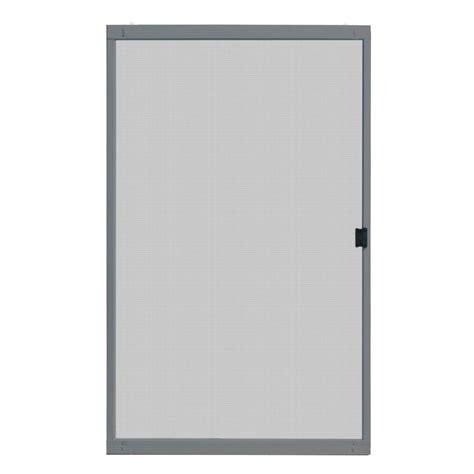 Unique Home Designs 48 In X 80 In Standard Grey Metal Patio Screen Door Sizes