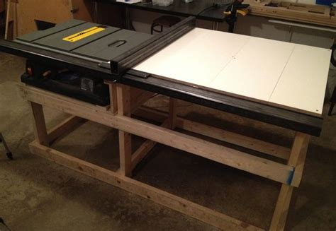 build a table saw bench table saw station