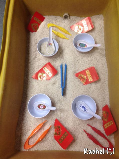 new year crafts early years new year sensory tray stimulating learning