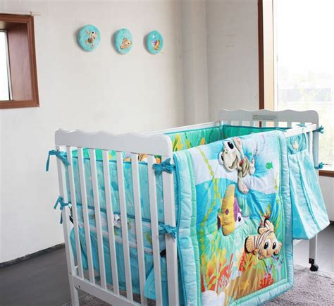 Nursery Cot Bedding Sets 8 Pieces Crib Baby Bedding Set Finding Nemo Baby Nursery Cot Bedding Crib Bumper Quilt Fitted