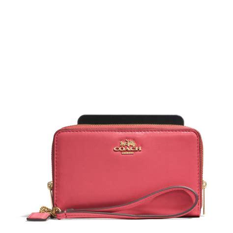 light pink coach wallet small handbags coach double zip wallet