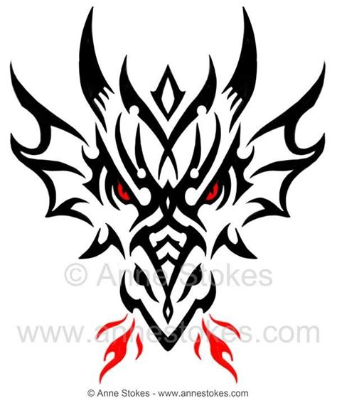 tribal dragon head tattoos tribal by stokes tattoos