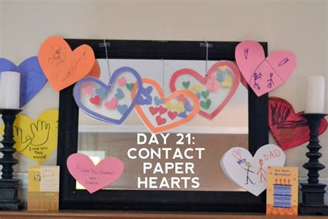 contact paper hearts crafts