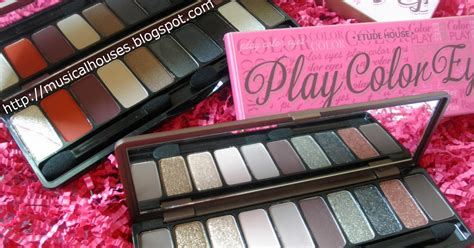 Etude House Play Color Eyeshadow etude house play color eyeshadow palettes swatches and review of faces and fingers