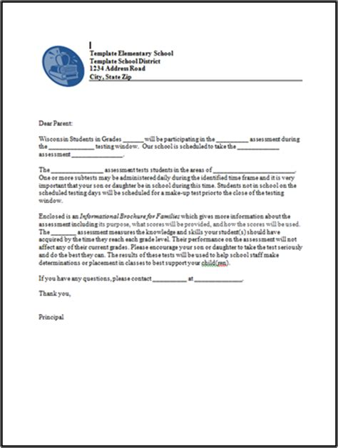 Parent Letter Regarding Testing Dac Resources And Trainings Wisconsin Department Of