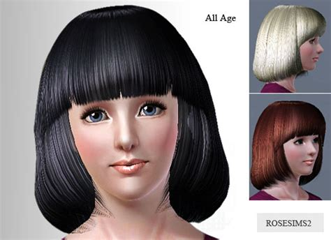 sims 3 cheats for hairstyles the sims 3 round bob with bangs by rose sims