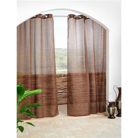 Sheer Outdoor Curtains Outdoor Decor Cote D Azure Semi Sheer Indoor Outdoor Curtains 108x96 Grommet Top In Chocolate