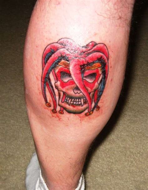 joker hat tattoo skull w jester hat tattoo
