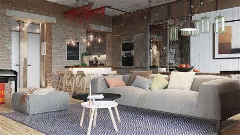 bachelor apartment design industrial style 3 modern bachelor apartment design