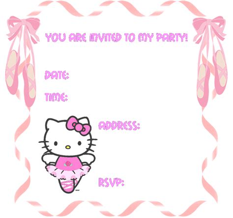 printable birthday invitation cards hello kitty hello kitty invitation template images frompo 1