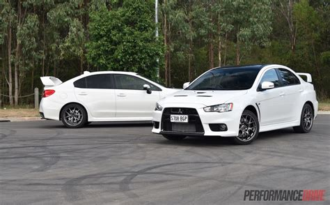 Mitsubishi Evo 2016 by 2016 Mitsubishi Lancer Evolution Vs Subaru Wrx Sti