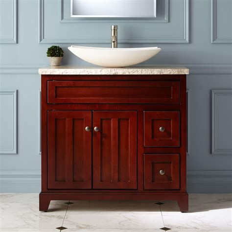 Cherry Bathroom Vanities 36 Quot Cordova Cherry Vessel Sink Vanity Bathroom