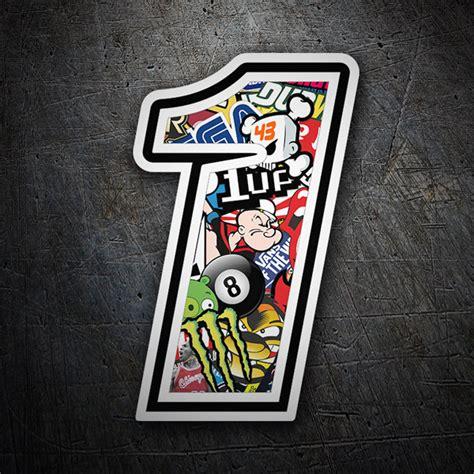 Auto Aufkleber Zahlen by Aufkleber Zahlen Nummer 1 Stickerbomb Webwandtattoo