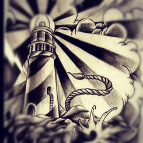 lighthouse tattoo images amp designs