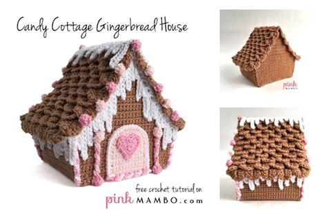 pattern gingerbread house free amazing candy cottage gingerbread house free crochet pattern