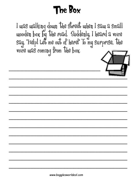 19 best images of second grade creative writing worksheets
