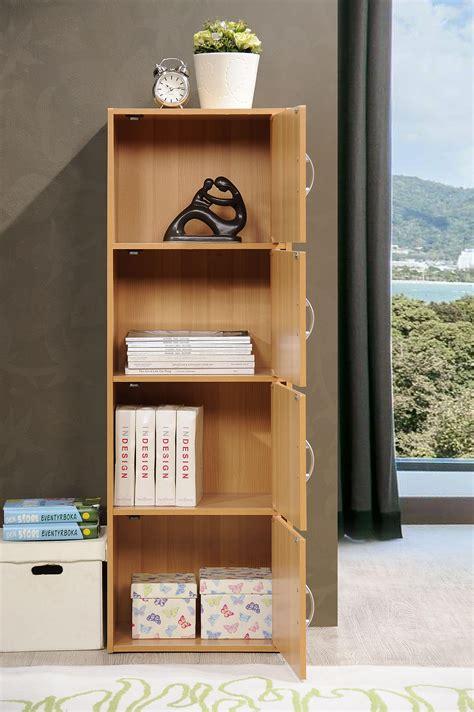 hodedah 4 door cabinet amazon com hodedah 4 door four shleves enclosed storage