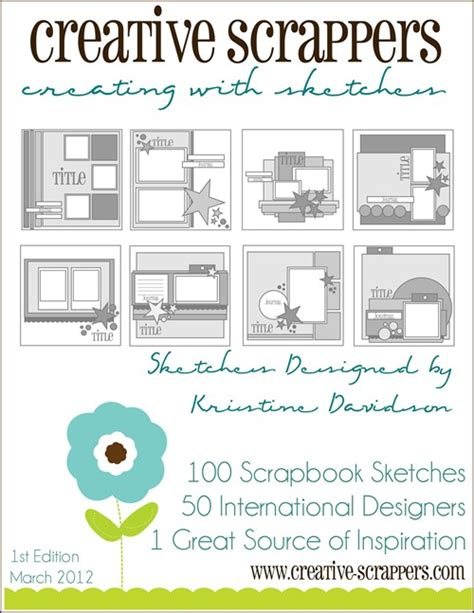 Sketches Ebook by Scrap Utopia Creating With Sketches Ebook Giveaway
