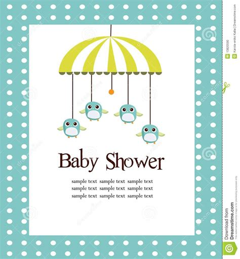 baby boy shower card template baby shower card for boys stock vector illustration of