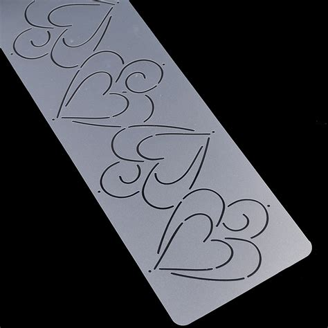 plastic spiral heart shape quilting template stencils