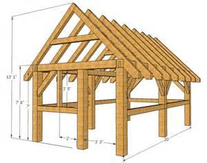 timber frame wood shed plans