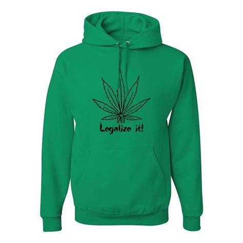 Hoodie 420 Time legalize it marijuana 420 pot stoner high times hoodies ebay