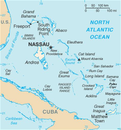 the bahamas map list of islands of the bahamas