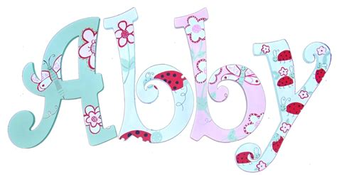 Artsy Bedroom Pink And Green Butterfly Garden Hand Painted Wood Wall Letters