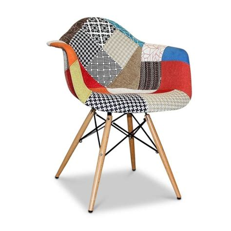 eames eiffel armchair patchwork wood replica
