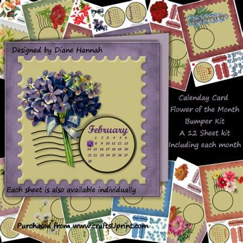 card kits of the month st flower of the month bumper kit cup600690 874