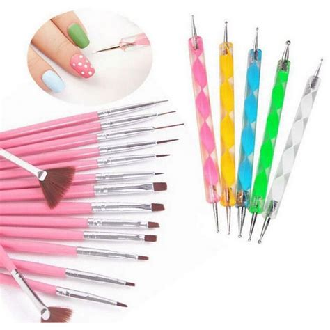 Eterna Paint Brush 3 Kuas Warna rhinestone kuas kuku 20 in 1 multi color jakartanotebook