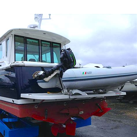 dinghy storage on boat pull on dinghy davit systems and dinghy davits for