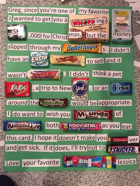 this is a poster card i made for my boyfriend for 17 best ideas about birthday candy posters on pinterest