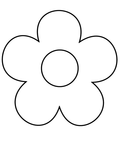 Simple Flower Coloring Pages flower3 simple shapes coloring pages coloring book