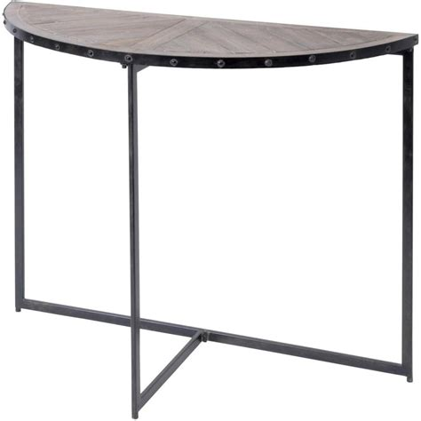 Half Moon Console Table Buy Half Moon Industrial Style Console Table From Fusion Living