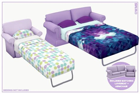 Dylan Sofa Beds By Unobservant Sims Teh Sims
