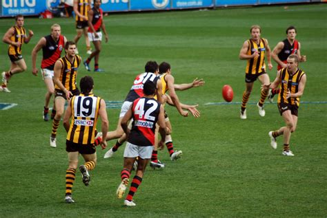 On The Afl by File Is In Dispute In Hawthorn Essendon Afl Match Jpg