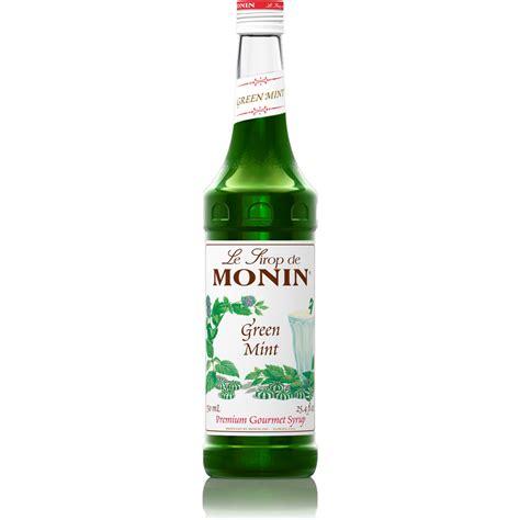 Monin Green Mint Syrup   750 ml Bottle: BaristaProShop.com